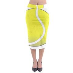 Tennis Ball Ball Sport Fitness Midi Pencil Skirt by Nexatart