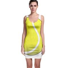 Tennis Ball Ball Sport Fitness Sleeveless Bodycon Dress