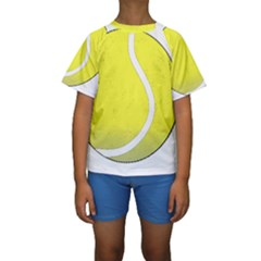 Tennis Ball Ball Sport Fitness Kids  Short Sleeve Swimwear