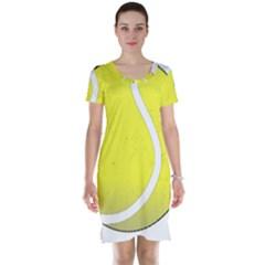 Tennis Ball Ball Sport Fitness Short Sleeve Nightdress