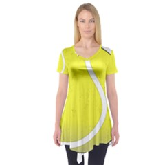 Tennis Ball Ball Sport Fitness Short Sleeve Tunic