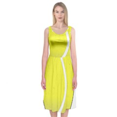 Tennis Ball Ball Sport Fitness Midi Sleeveless Dress