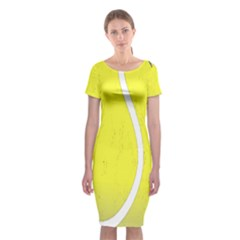 Tennis Ball Ball Sport Fitness Classic Short Sleeve Midi Dress