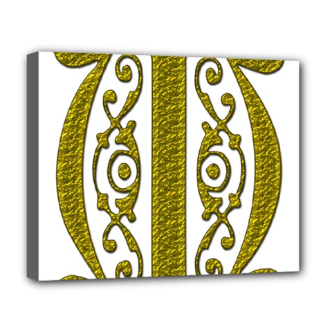Gold Scroll Design Ornate Ornament Deluxe Canvas 20  X 16