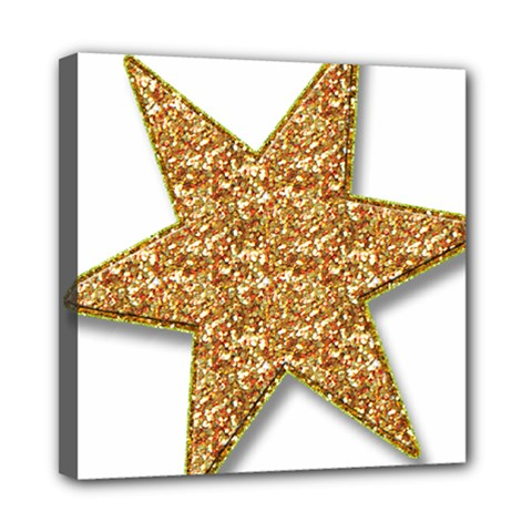 Star Glitter Mini Canvas 8  X 8  by Nexatart