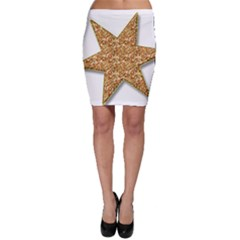 Star Glitter Bodycon Skirt