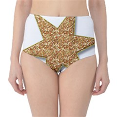 Star Glitter High Waist Bikini Bottoms