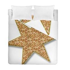 Star Glitter Duvet Cover Double Side (Full/ Double Size) by Nexatart