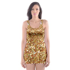 Star Glitter Skater Dress Swimsuit by Nexatart