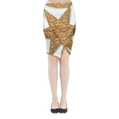 Star Glitter Midi Wrap Pencil Skirt