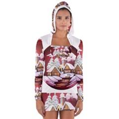 Christmas Decor Christmas Ornaments Women s Long Sleeve Hooded T Shirt