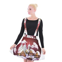 Christmas Decor Christmas Ornaments Suspender Skater Skirt by Nexatart