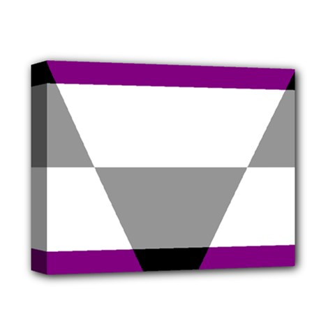 Aegosexual Autochorissexual Flag Deluxe Canvas 14  X 11  by Mariart