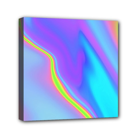 Aurora Color Rainbow Space Blue Sky Purple Yellow Mini Canvas 6  X 6  by Mariart