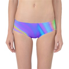 Aurora Color Rainbow Space Blue Sky Purple Yellow Classic Bikini Bottoms by Mariart