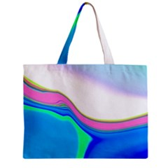 Aurora Color Rainbow Space Blue Sky Purple Yellow Green Zipper Mini Tote Bag by Mariart