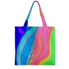 Aurora Color Rainbow Space Blue Sky Purple Yellow Green Pink Grocery Tote Bag by Mariart