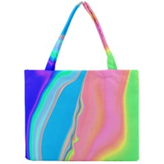 Aurora Color Rainbow Space Blue Sky Purple Yellow Green Pink Mini Tote Bag by Mariart