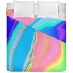 Aurora Color Rainbow Space Blue Sky Purple Yellow Green Pink Duvet Cover Double Side (california King Size) by Mariart