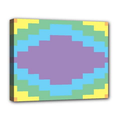 Carmigender Flags Rainbow Deluxe Canvas 20  X 16   by Mariart