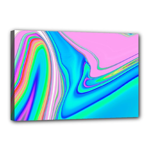 Aurora Color Rainbow Space Blue Sky Purple Yellow Green Pink Red Canvas 18  X 12  by Mariart