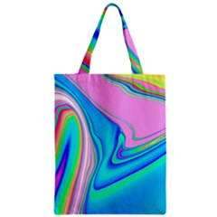 Aurora Color Rainbow Space Blue Sky Purple Yellow Green Pink Red Zipper Classic Tote Bag by Mariart