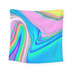 Aurora Color Rainbow Space Blue Sky Purple Yellow Green Pink Red Square Tapestry (small) by Mariart