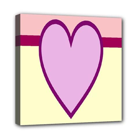 Cute Gender Gendercute Flags Love Heart Line Valentine Mini Canvas 8  X 8  by Mariart