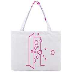 Deep Clean Bubbel Door Pink Polka Circle Mini Tote Bag by Mariart
