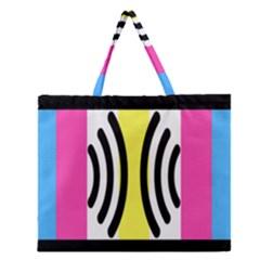Echogender Flags Dahsfiq Echo Gender Zipper Large Tote Bag by Mariart