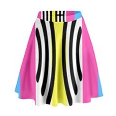 Echogender Flags Dahsfiq Echo Gender High Waist Skirt by Mariart