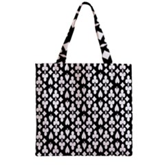 Dark Horse Playing Card Black White Grocery Tote Bag by Mariart