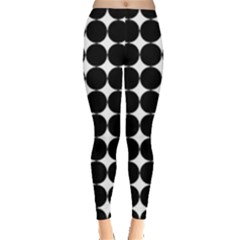 Dotted Pattern Png Dots Square Grid Abuse Black Leggings  by Mariart