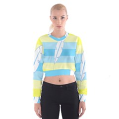 Feather Flags Cropped Sweatshirt