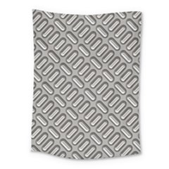 Capsul Another Grey Diamond Metal Texture Medium Tapestry by Mariart