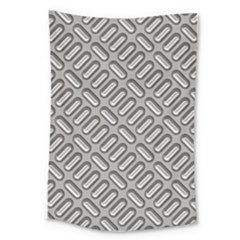Capsul Another Grey Diamond Metal Texture Large Tapestry by Mariart
