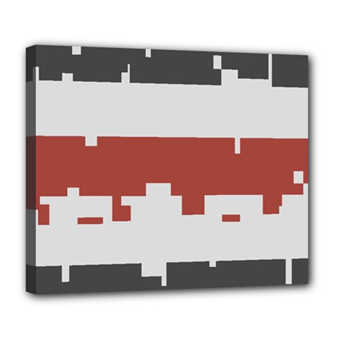 Girl Flags Plaid Red Black Deluxe Canvas 24  X 20   by Mariart