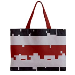 Girl Flags Plaid Red Black Zipper Mini Tote Bag by Mariart