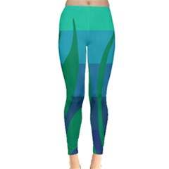 Gender Sea Flags Leaf Leggings  by Mariart