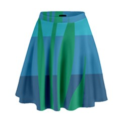 Gender Sea Flags Leaf High Waist Skirt by Mariart