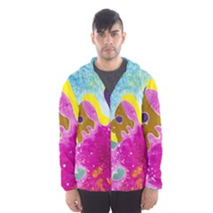 Fabric Rainbow Hooded Wind Breaker (men) by Mariart
