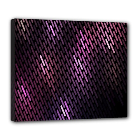 Light Lines Purple Black Deluxe Canvas 24  X 20   by Mariart