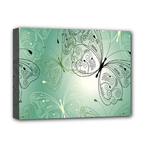 Glass Splashback Abstract Pattern Butterfly Deluxe Canvas 16  X 12   by Mariart