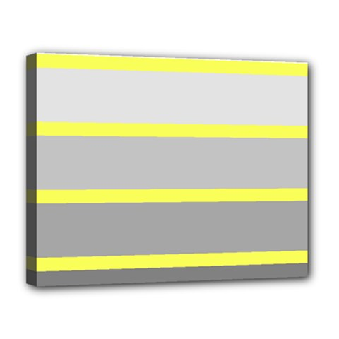 Molly Gender Line Flag Yellow Grey Canvas 14  X 11  by Mariart