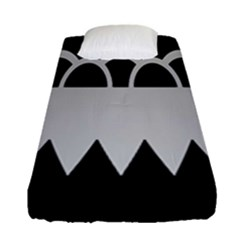 Noir Gender Flags Wave Waves Chevron Circle Black Grey Fitted Sheet (single Size) by Mariart