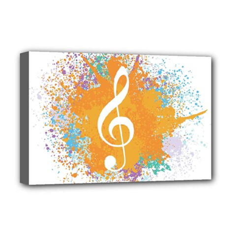 Musical Notes Deluxe Canvas 18  X 12   by Mariart