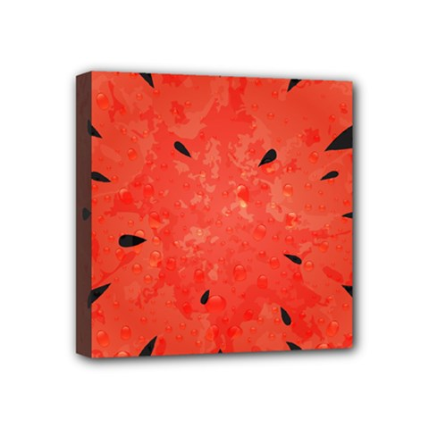 Summer Watermelon Design Mini Canvas 4  X 4  by TastefulDesigns