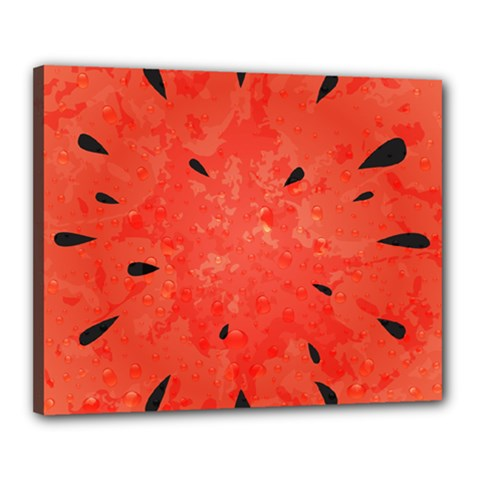 Summer Watermelon Design Canvas 20  X 16  by TastefulDesigns