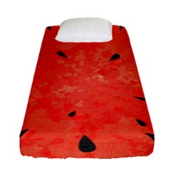 Summer Watermelon Design Fitted Sheet (single Size) by TastefulDesigns