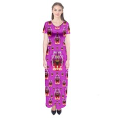 A Cartoon Named Okey Want Friends And Freedom Short Sleeve Maxi Dress by pepitasart